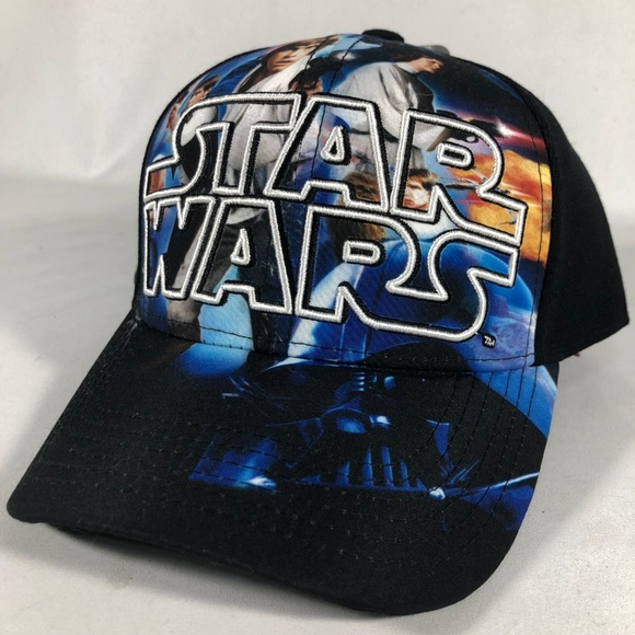 f410a2560029a Star Wars Mens Classic Poster Collage Baseball Cap